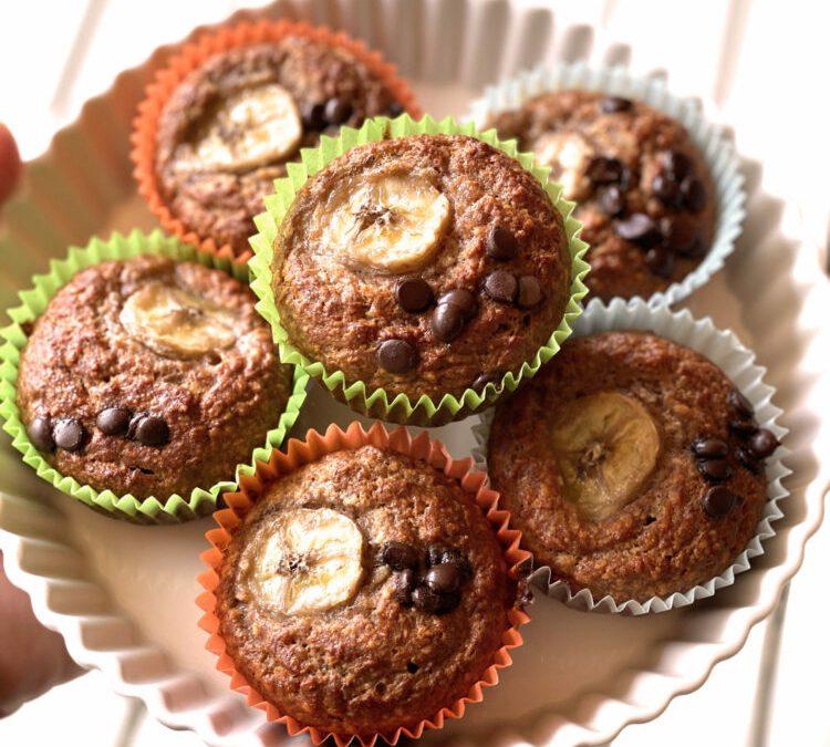 Schoko Banana-Bread Muffins zum Muttertag