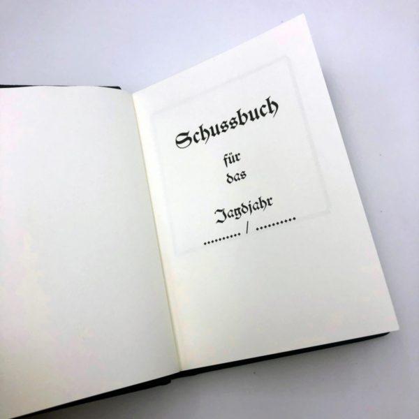Jagdbuch Schussbuch
