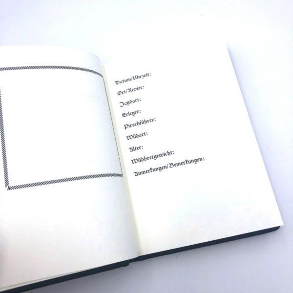 Jagdbuch Steckbrief
