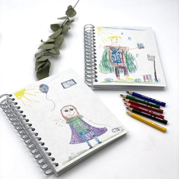 Kalender Notizbuch mit Kinderzeichnung